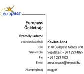 önéletrajz minta europass doc EU önéletrajz minta: húszezren töltötték le Magyarországról önéletrajz minta europass doc