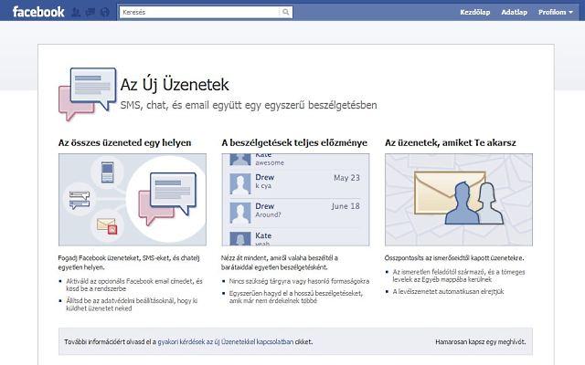 Már a magyarok is használhatják a Facebook e-mailjét 10d694397d