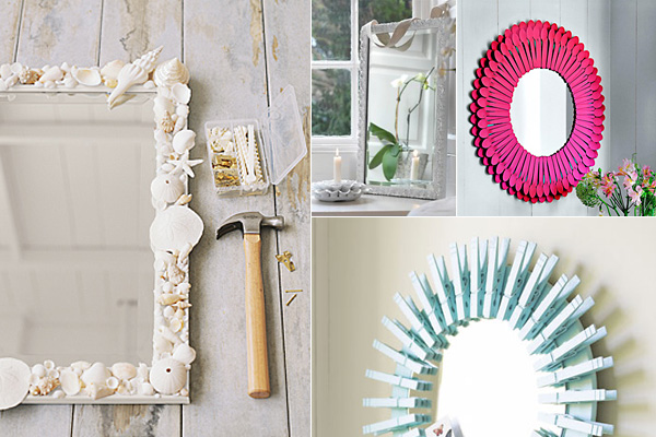 Tükör dekoráció házilag