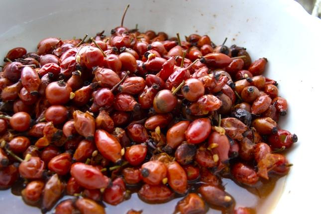 Csipkebogyó ecet készítése