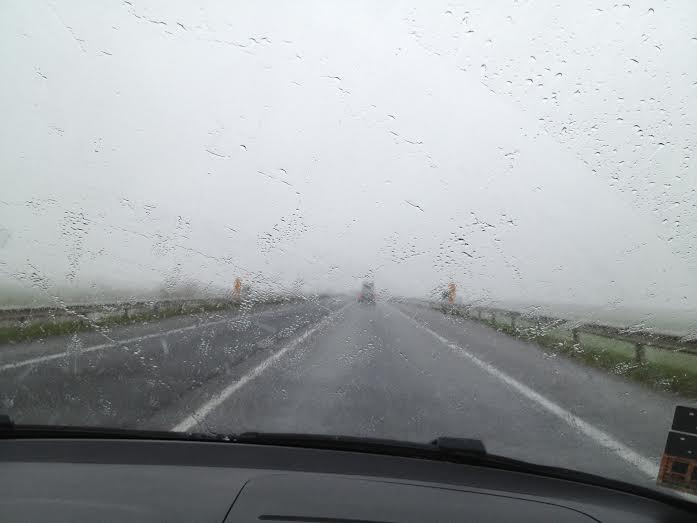 Nem tréfa, havas eső esett Mosonmagyaróvárnál