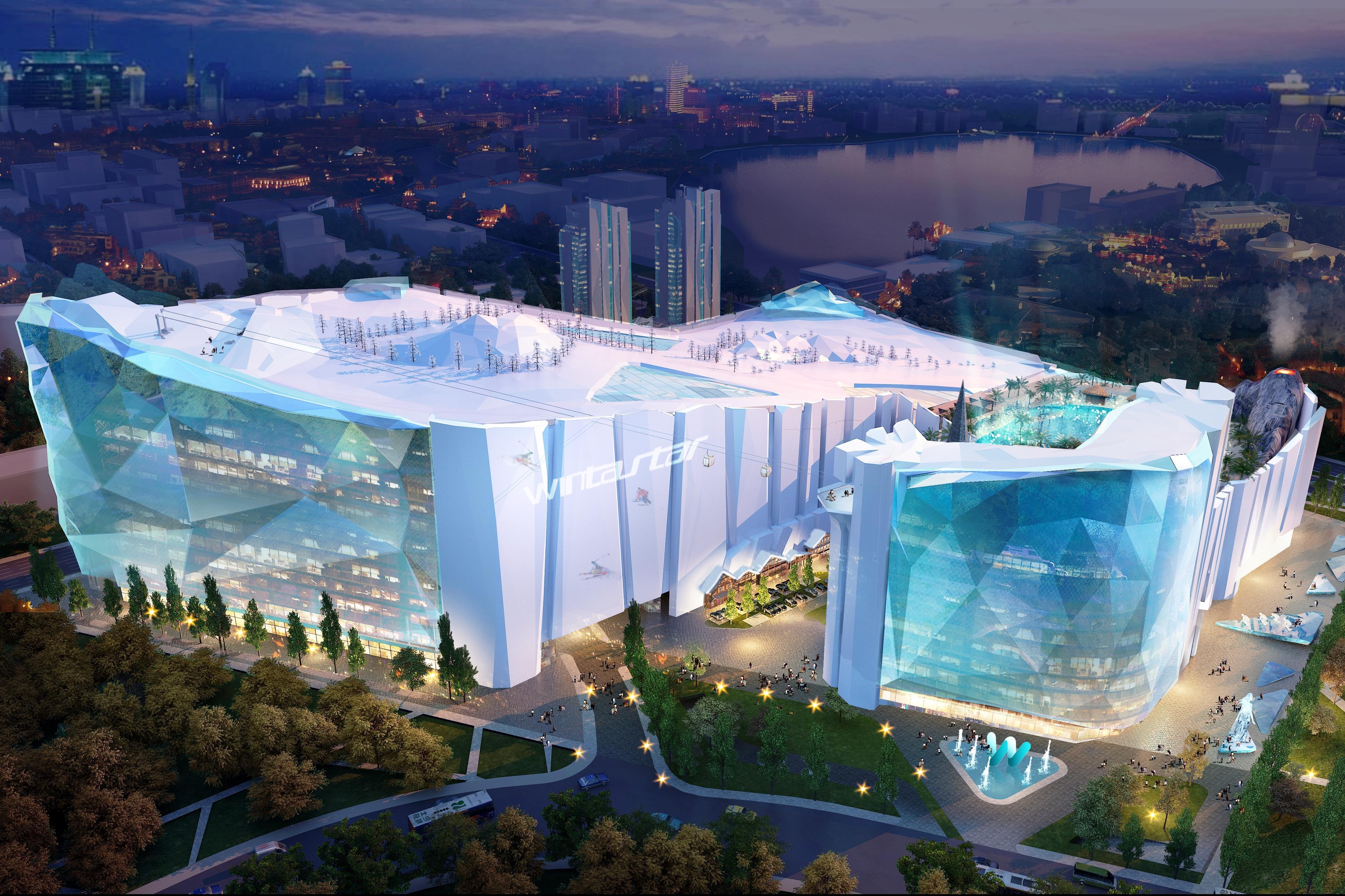 A világ legnagyobb beltéri sípályáját építik fel Sanghajban 76ac226f6b