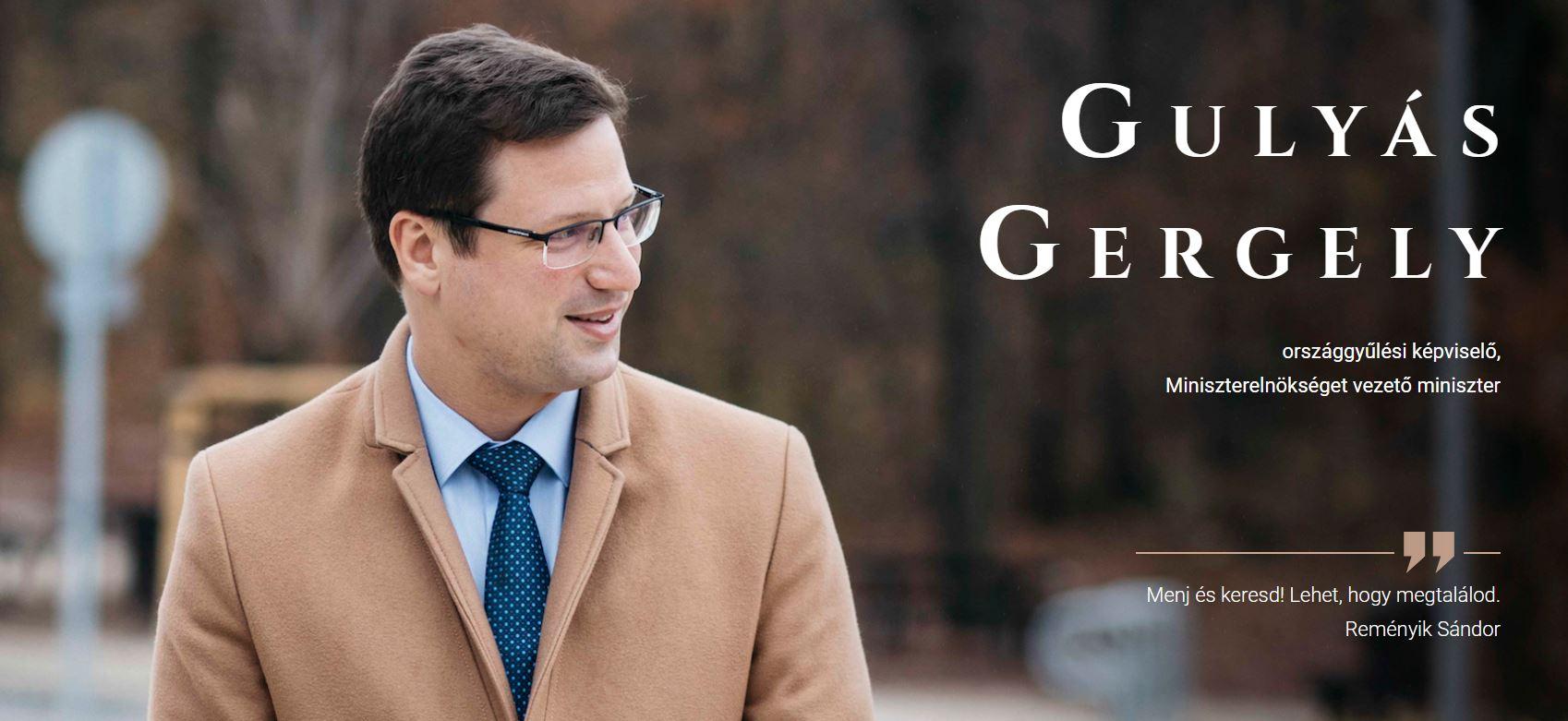 Elindult Gulyás Gergely új honlapja