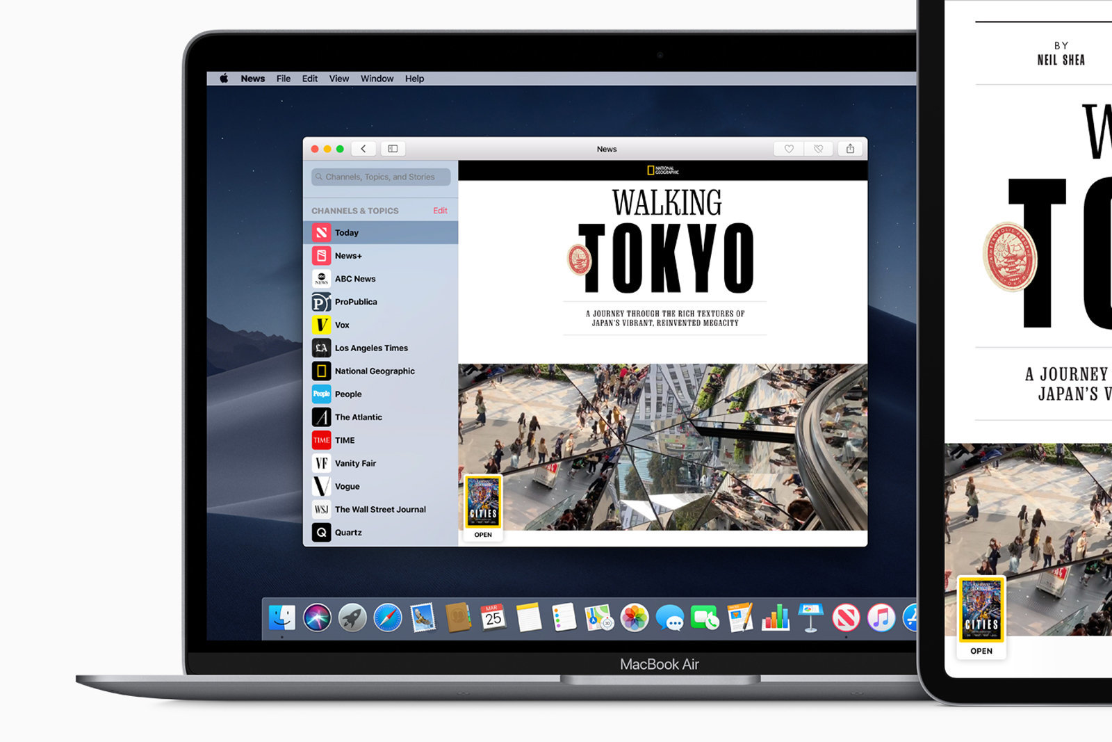 A big mistake has occurred in the Apple News + Desktop application