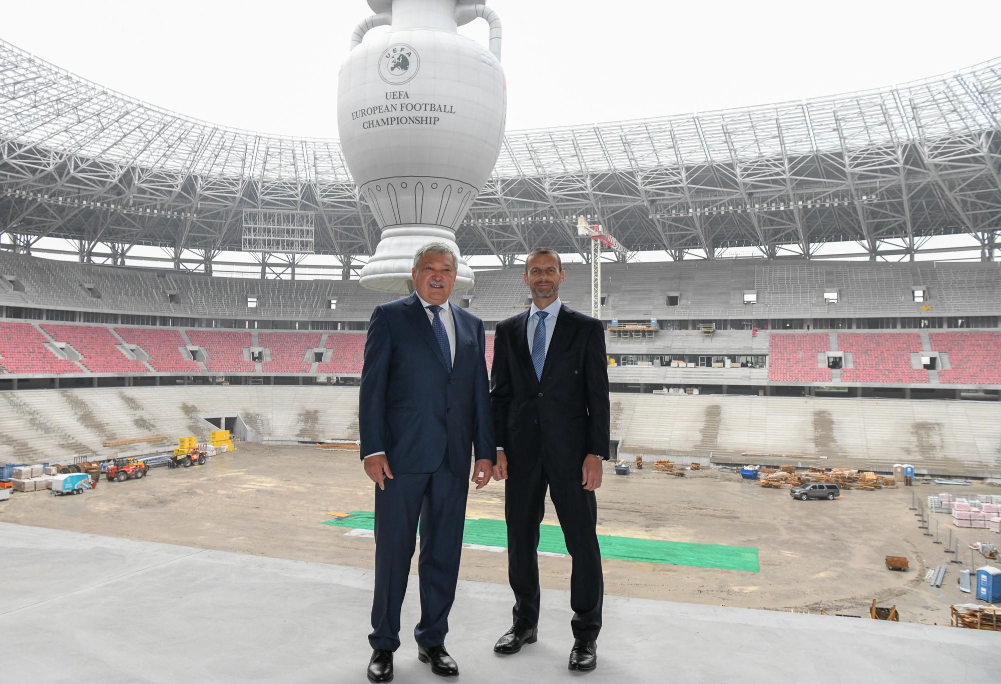 ac2ad58a5efc Az UEFA elnöke elégedett az új Puskás Stadion építésével