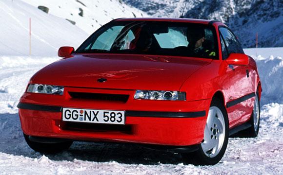 Nem véletlen a havas táj. Az Opel Calibra Turbo négykerék-hajtású 7f8a377726