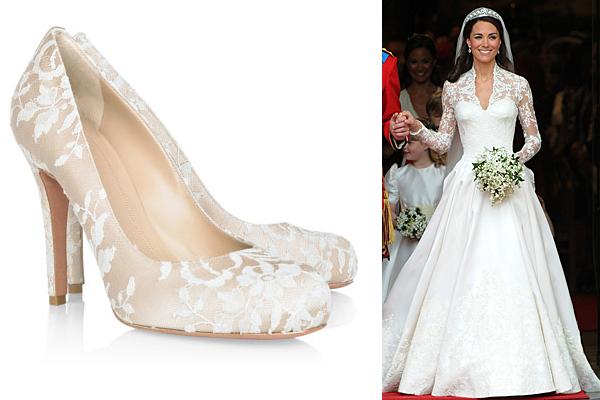 Íme Kate Middleton mesés menyasszonyi cipője