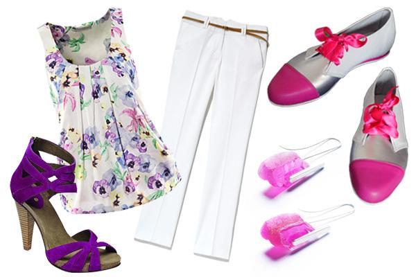 0fc1cfb9c5 Felső: H&M, nadrág: Reserved, magas sarkú cipő: Scholl, lapos talpú cipő:  Trenntre Shoe Design, fülbevaló: Dorivisy