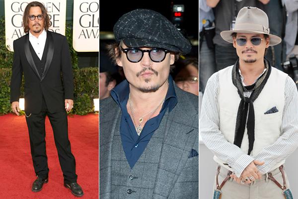 1efdcea5c1 Ő tényleg Johnny Deppként öltözködik és viselkedik, nem stylistok és  szakemberek alkották meg. A kalap, a kissé fakó farmer és bakancs a ...