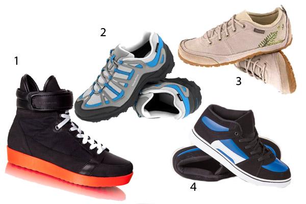 023f89e101 Kék túracipő - Quechua (Decathlon), 3. Vajszínű túracipő - Quechua ( Decathlon), 4. Kék-fekete sportos cipő - ASIA Center