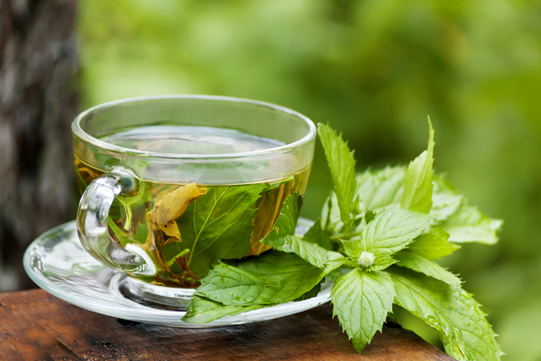 fogyókúrás tea menta levelekkel)