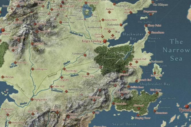 trónok harca térkép Parádés interaktív térkép a Trónok harcához