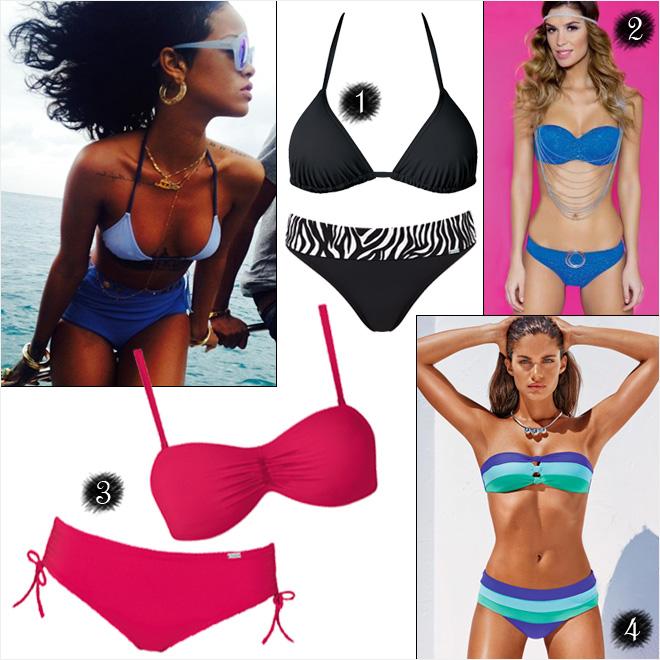 e1b86f8b3b Konkurencia: 4.990 forint, 3. Triump bikini: felső - 11.599 forint, alsó -  7.299 forint, 4. CalzedoniaRihanna fotó: Instagram