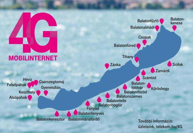 4g Vel Bovit A Telekom A Balaton Korul