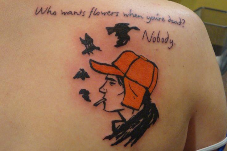 randi egy srác, sok tetoválás