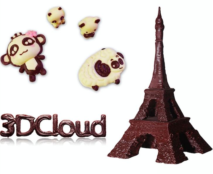Édes Eiffel-toronyt is nyomtathat a csokinyomtató