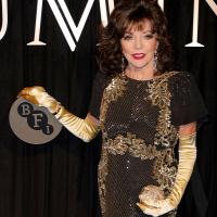8855478597 A 84 éves Joan Collins színésznő arca túlságosan feszes: fotó!