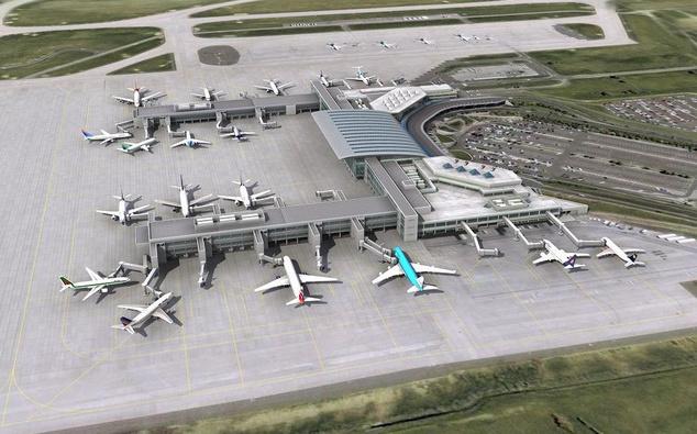 csatlakozó repülőtér
