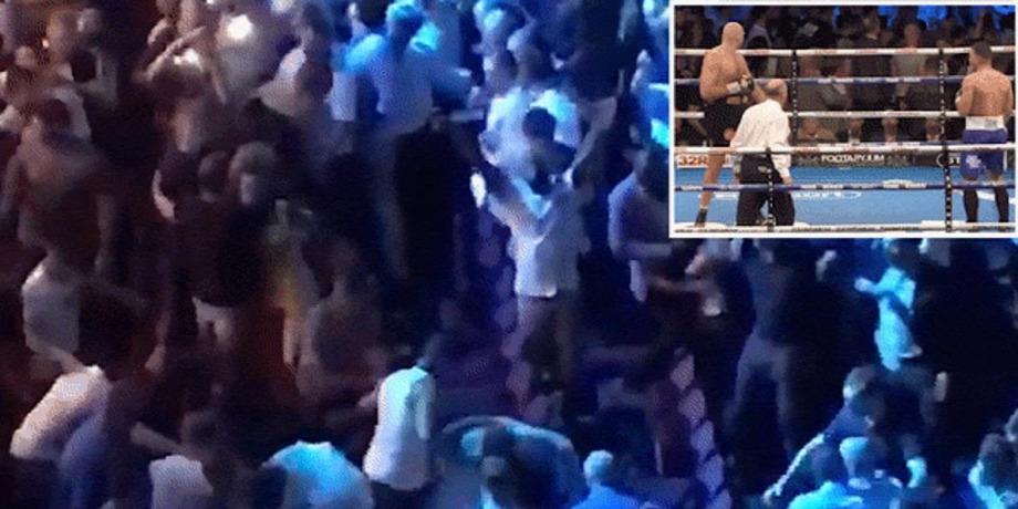 A szurkolók is ütötték egymást Tyson Fury meccsénForrás  The Sun 5ef7518137