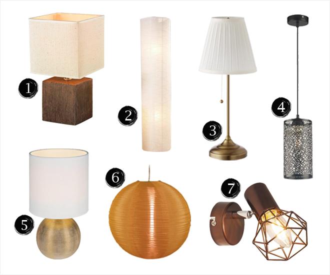 Állólámpa asztali lámpa