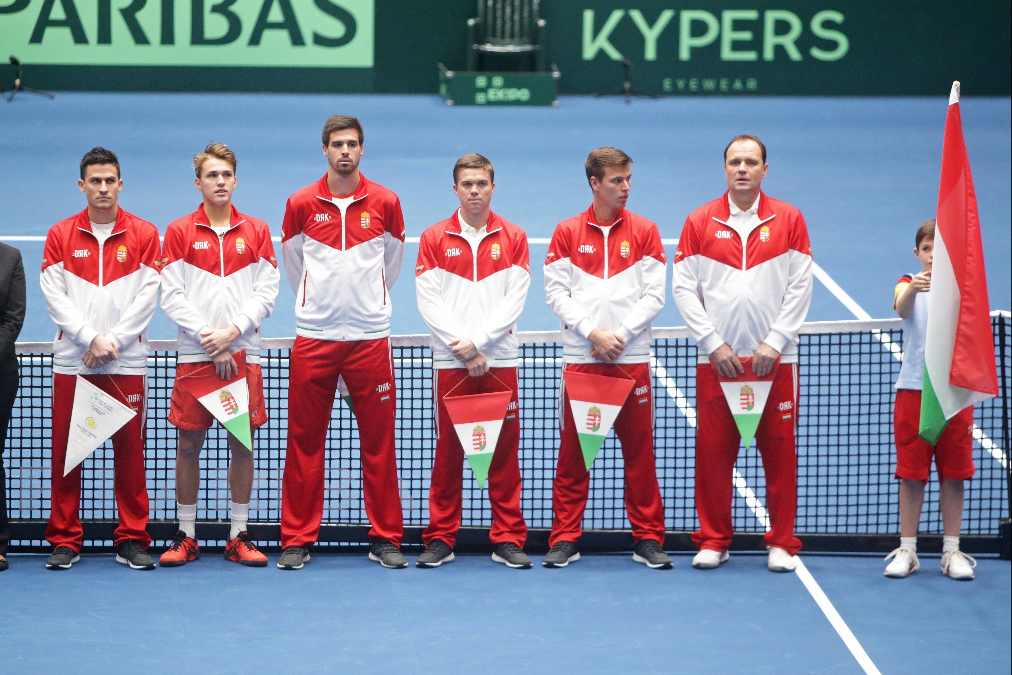 037a6bff03 Ukrajnával találkozik a Davis-kupa-osztályozón a magyar válogatott