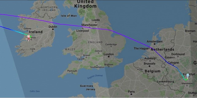 Forrás: Flightradar24.com