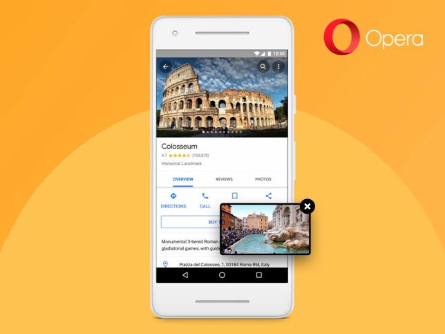 Android 8.0 és újabb rendszerű készülékeken már kép a képben üzemmódot is  kínál az OperaForrás  Opera Software 6ba977be2f