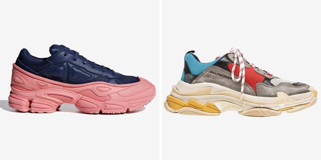 d96bb86c2c Raf Simons X Adidas Ozweego-kollekció darabja (balra) és a Balenciaga  sneakere (jobbra)Forrás: Adidas, Balenciaga