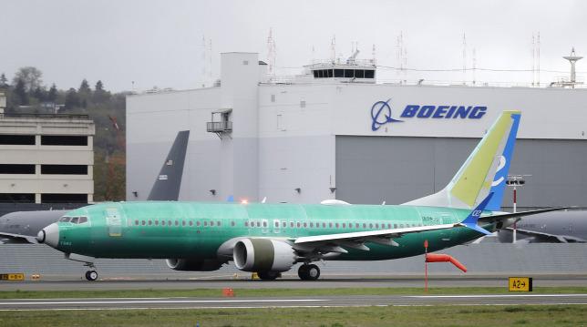 f106de582bf0 A spanyolországi székhelyű Air Europa légitársaság megrendelésére épített  Boeing 737 MAX 8 repülőgép próbaútra készül felszállni az amerikai  repülőgépgyártó ...