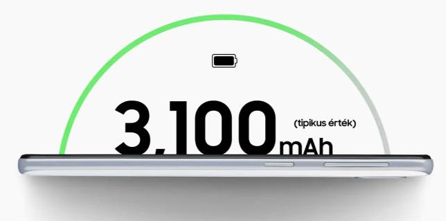ad74be958207 3100 mAh akkumulátorral látták el, ezzel egy teljes napot nem biztos, hogy  kibírunk, ha keményen használjuk a telefontForrás: Origo