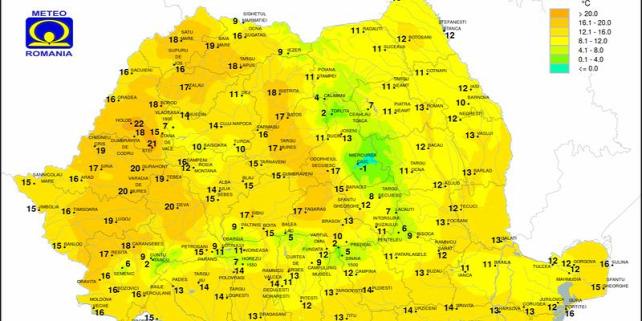 Forrás: Román Meteorológiai Szolgálat/ meteoromania.ro