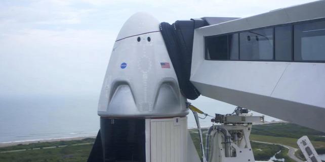 Forrás: MTI/AP/SpaceX/-