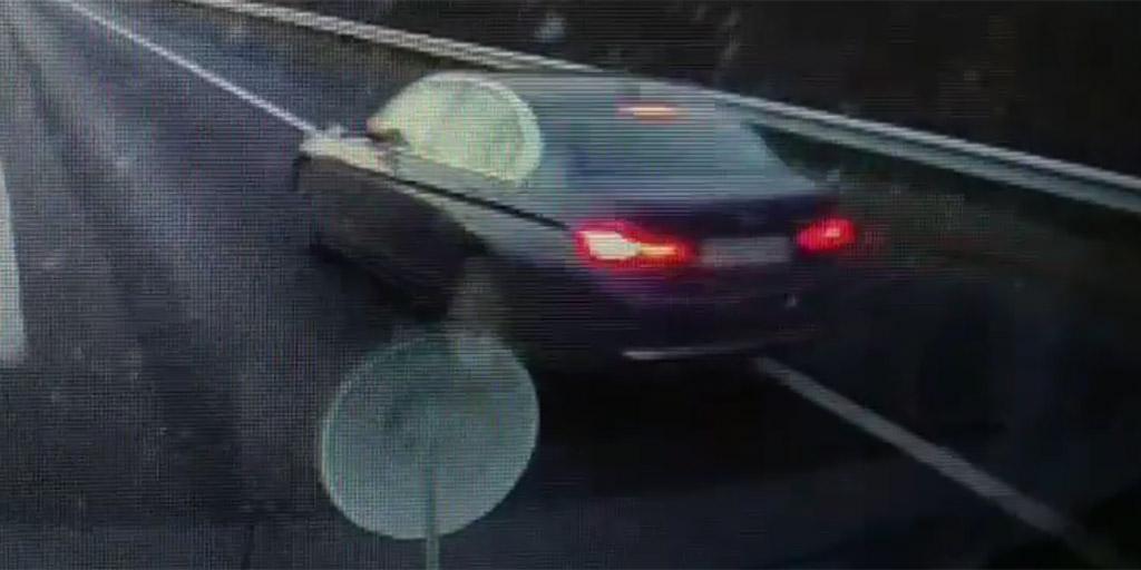 Botrányos videó: jobbról előzött, majd mentő előtt büntetőfékezett egy BMW-s az M7-esen