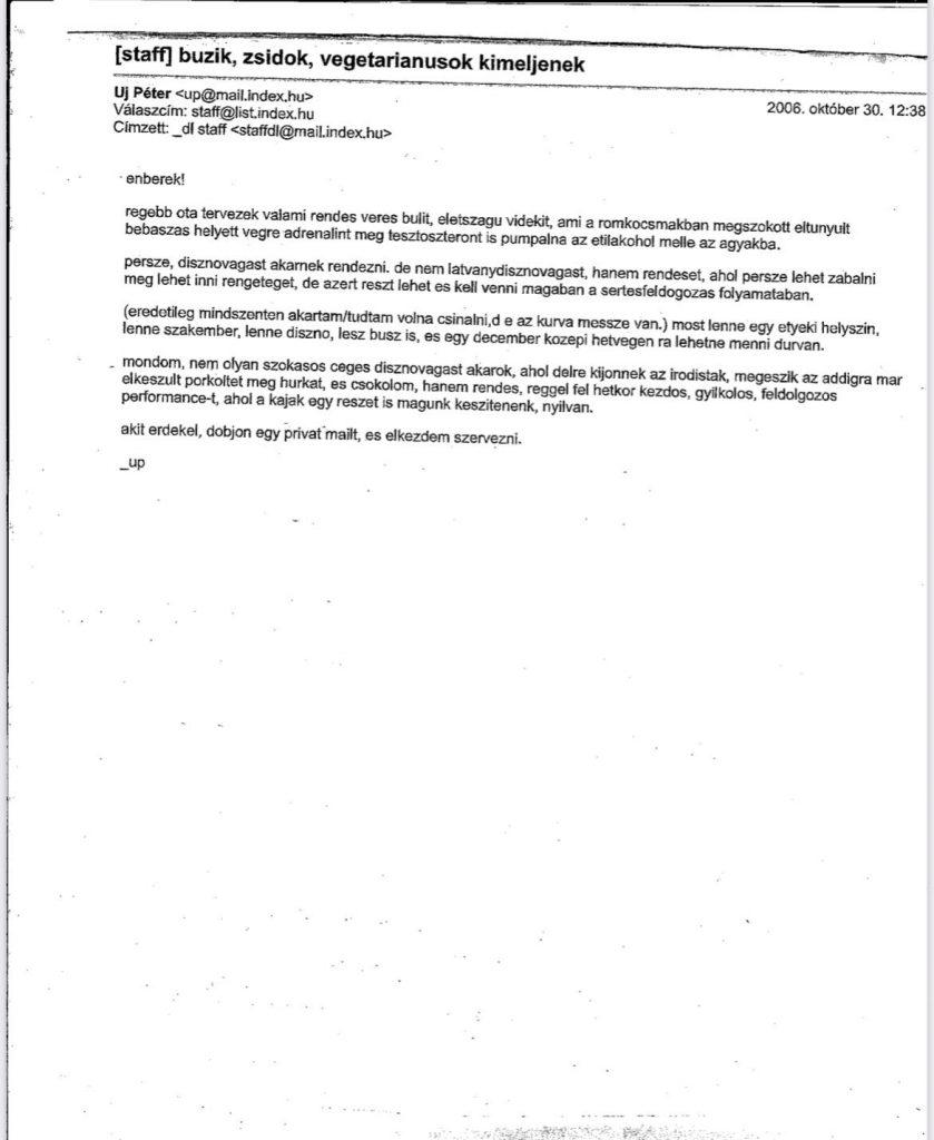 Újabb antiszemita levél jelent meg a Soros-blog főszerkesztőjétől