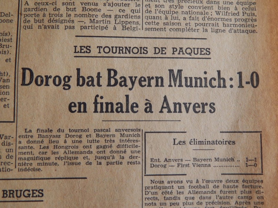 A feledés homályába vesző Húsvéti Kupa, amelyen a Dorog legyőzte a Bayern Münchent