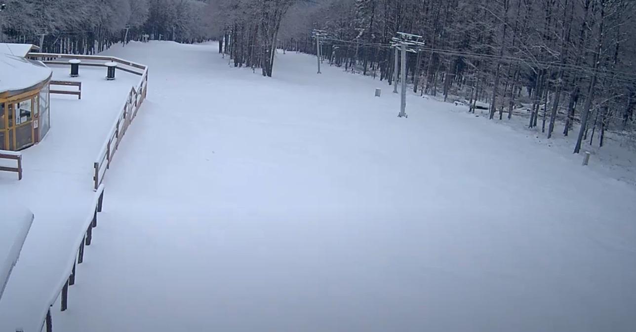 Kékestetőn havazik, 4-5 centis hó is eshet – Így néz ki a táj