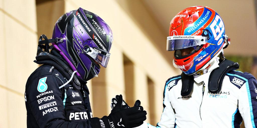 Hamilton szerint nincs konfliktusa Russell-lel, és ez látszik is