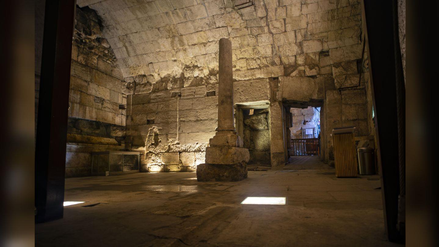 Pompás római kori épületet fedeztek fel a Nyugati Fal alatt