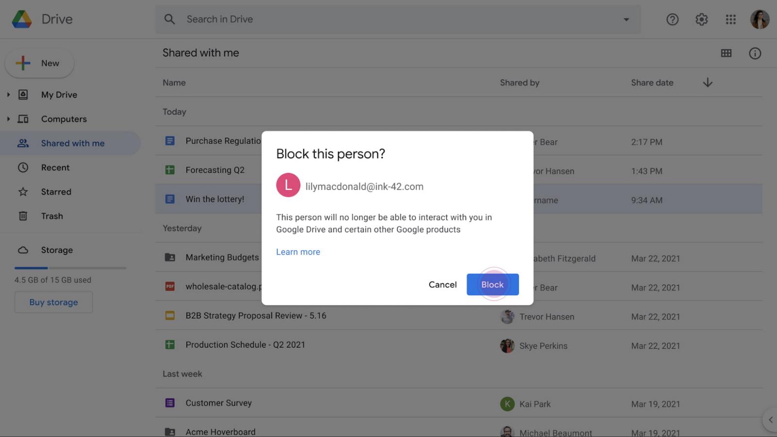 Blokkolhatóak lesznek a Google Drive spamelői