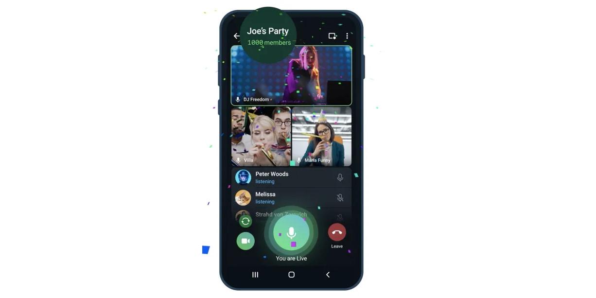 Ezer nézős videócsevegést kapott a Telegram