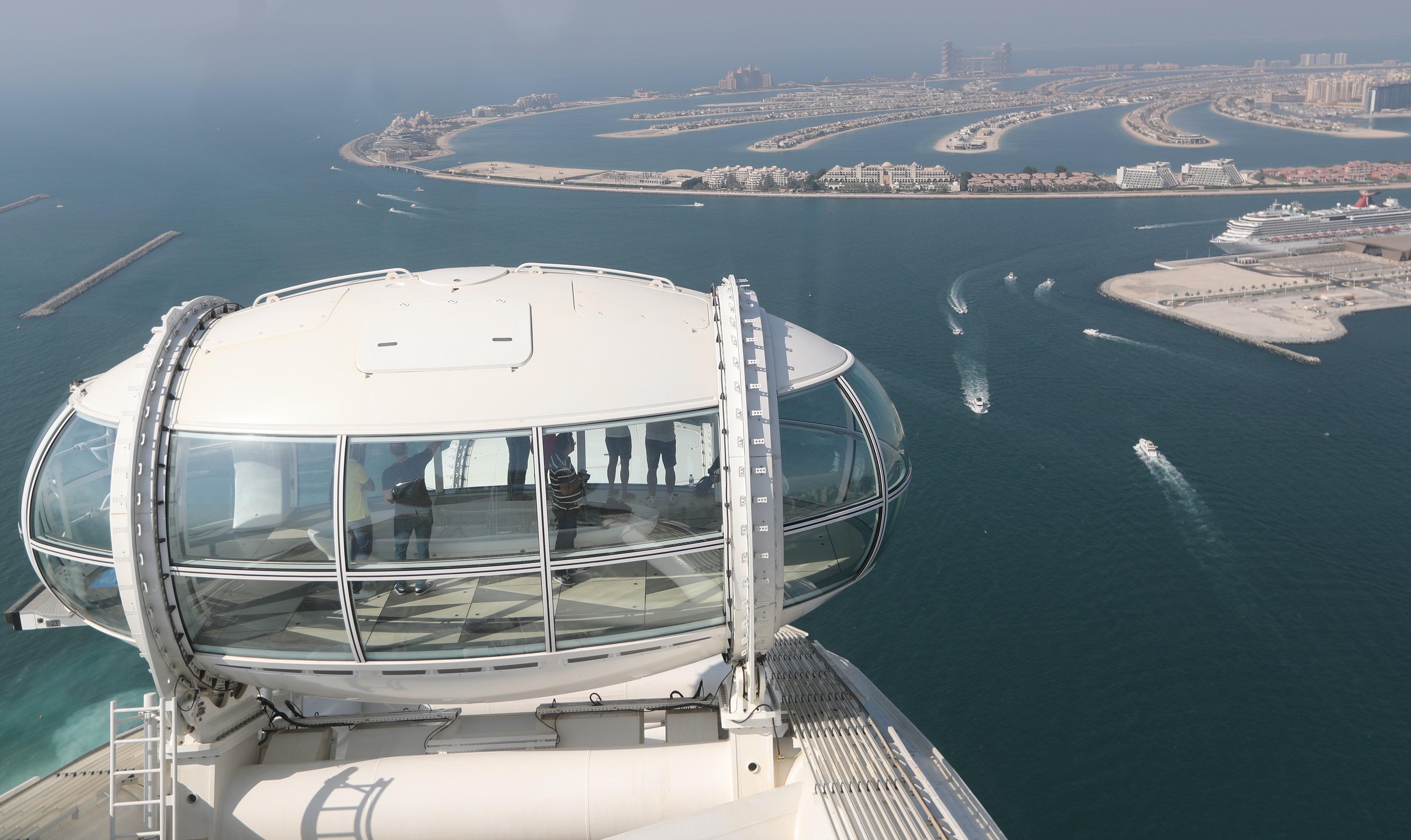 Átadták a világ legnagyobb óriáskerekét Dubajban - képek