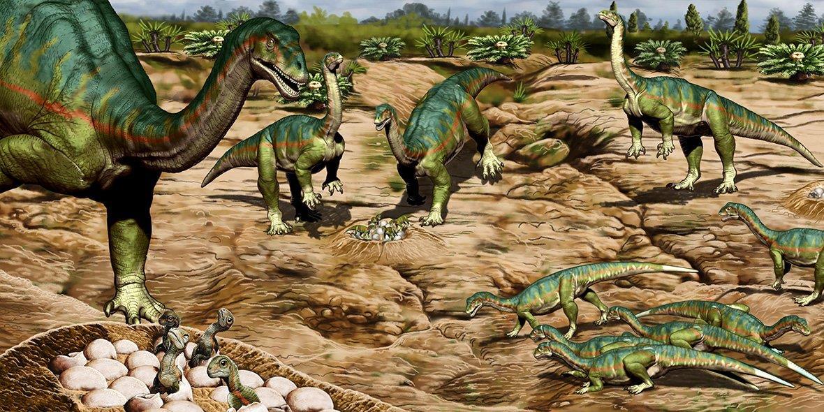 A korai dinoszauruszok társaságkedvelők lehettek