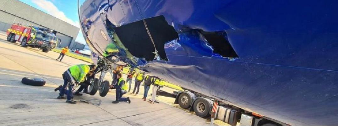 Durva balesetet szenvedett a Ryanair egyik gépe Londonban - képek